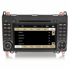 Мултимедия Double Din за Mercedes Benz W169,W245,Sprinter, ES7282C, WinCE, GPS, DVD, 7 инча