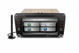 Мултимедия Двоен Дин за Skoda Fabia,Octavia PX71MTVDAB, Цифров FM тунер, GPS, 7 инча